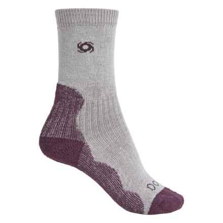 Bridgedale Doite CoolMax® Socks - Crew (For Women) in Nateral/Aubergine - 2nds