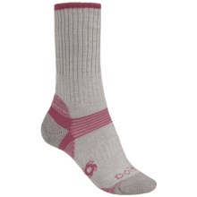 Bridgedale Doite Hiker Socks - Merino Wool, Crew (For Women) in Grey/Pink - 2nds