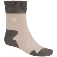 Bridgedale Doite MerinoFusion Summit Socks - Merino Wool, Crew (For Women) in Natural/Grey - 2nds