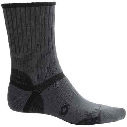 Bridgedale Doite Pro Hiking Socks - Merino Wool, Crew (For Men) in Gunmetal/Black - 2nds