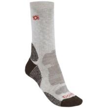 Bridgedale Doite Socks - CoolMax®, Crew (For Men) in Dark Brown/Natural - 2nds