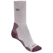 Bridgedale Doite Socks - CoolMax®, Crew (For Women) in Light Grey/Purple - 2nds