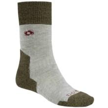 Bridgedale Doite Summit Socks - Merino Wool, Crew (For Men) in Natural/Heather Green - 2nds