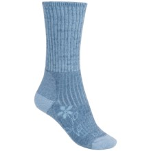 Bridgedale Doite Trekker Socks - Merino Wool, Crew (For Women) in Blue Heather - 2nds