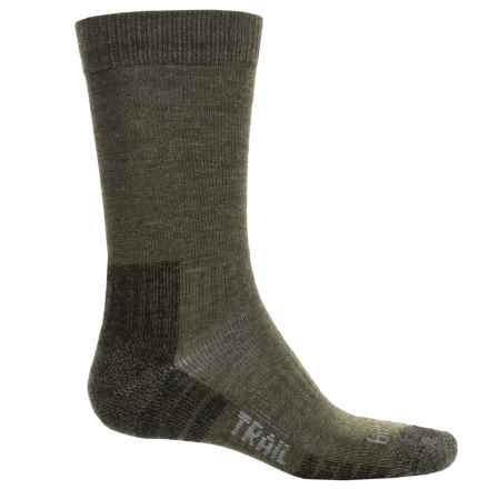 Bridgedale End Trail Socks - New Wool (For Men and Women) in Dark Green - 2nds