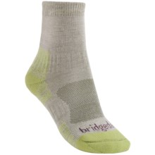 Bridgedale Endurance Trail Socks  (For Women) in Natural/Lime - 2nds