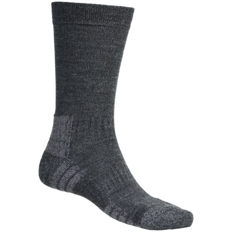 Bridgedale Explore Socks - Crew (For Men and Women) in Charcoal Heather