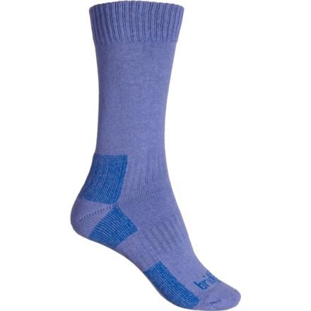 e5ff581c387b8 Bridgedale Heather-Damson Lightweight Hiking Socks - Crew (For Women) in  Heather/