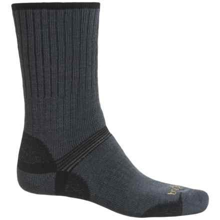 Bridgedale Hiker Socks - Merino Wool, Crew (For Men) in Gunmetal/Black - Closeouts