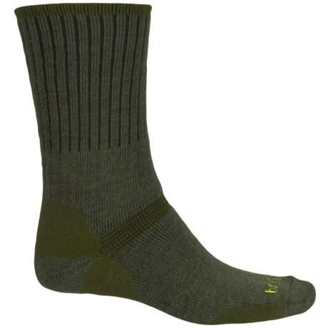 Bridgedale Hiker Socks - Merino Wool, Crew (For Men) in Olive