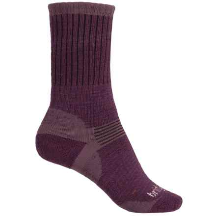 Bridgedale Hiker Socks - Merino Wool, Crew (For Women) in Aubergine - 2nds