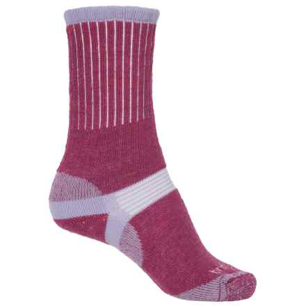 Bridgedale Hiker Socks - Merino Wool, Crew (For Women) in Berry - 2nds