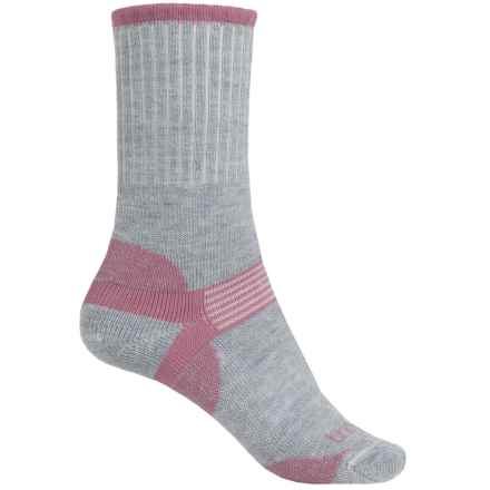Bridgedale Hiker Socks - Merino Wool, Crew (For Women) in Light Grey/Pink - 2nds