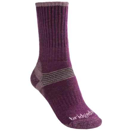 Bridgedale Hiker Socks - Merino Wool, Crew (For Women) in Plum - 2nds