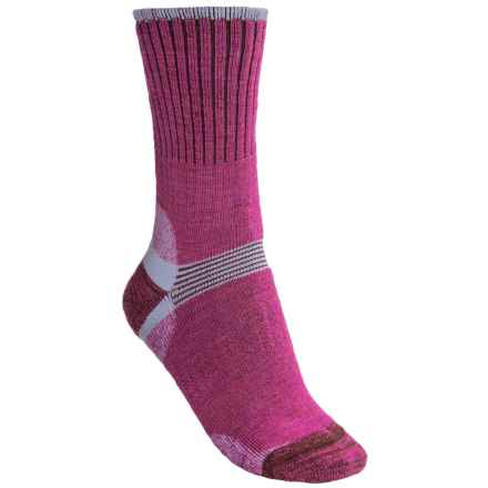 Bridgedale Hiker Socks - Merino Wool, Crew (For Women) in Raspberry - 2nds
