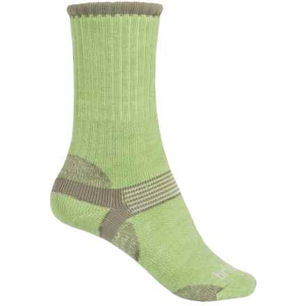 Bridgedale Hiker Socks - Merino Wool, Crew (For Women) in Sage/Grey - 2nds