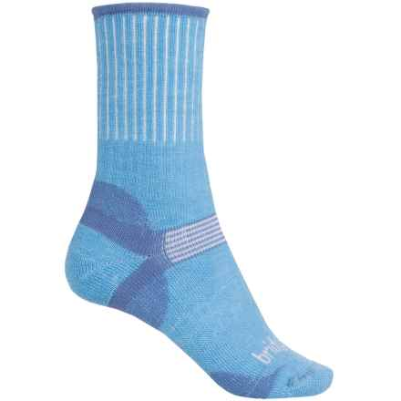 Bridgedale Hiker Socks - Merino Wool, Crew (For Women) in Sky - 2nds