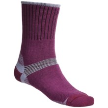 Bridgedale Hiker Socks - Midweight (For Men and Women) in Magenta/Lilac - 2nds