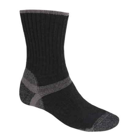 Bridgedale Hiker Socks - Wool, Crew (For Men) in Black/Grey - 2nds