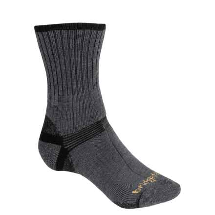 Bridgedale Hiker Socks - Wool, Crew (For Men) in Dark Grey/Black - 2nds