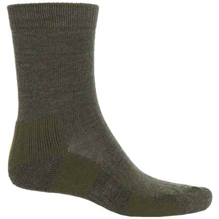 Bridgedale Hiking Socks - Crew (For Men) in Olive Heather - 2nds