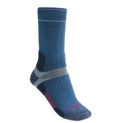 Bridgedale Hiking Socks - New Wool, Crew (For Women) in Dark Blue/Light Blue