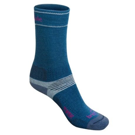 Bridgedale Hiking Socks - Wool (For Women) in Medium Blue/Light Grey