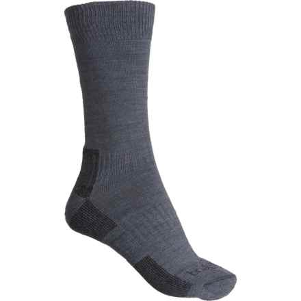 Bridgedale Lightweight Hiking Socks - Merino Wool, Crew (For Women) in Gunmetal/Black