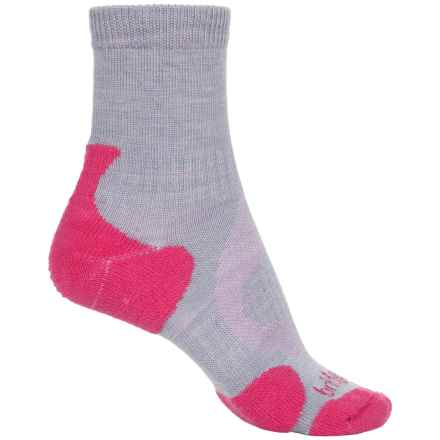 Bridgedale Lite Hiking Socks - Merino Wool, 3/4 Crew (For Women) in Rasberry - 2nds