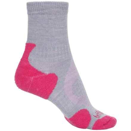 Bridgedale Lite Hiking Socks - Merino Wool, 3/4 Crew (For Women) in Rasberry - 2nds