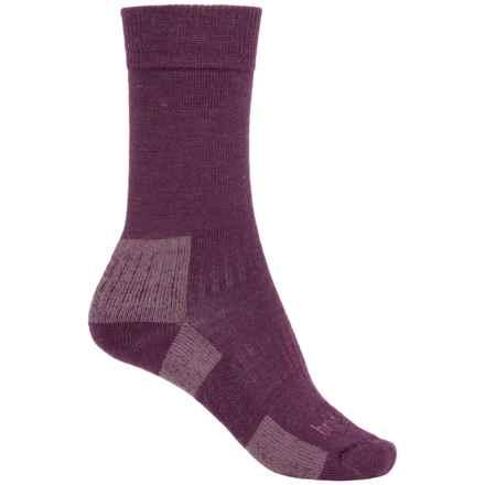 Bridgedale Merino Blend Socks - Merino Wool, Crew (For Women) in Auberine/Plum - Closeouts