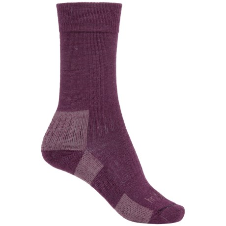 Bridgedale Merino Blend Socks - Merino Wool, Crew (For Women) in Auberine/Plum