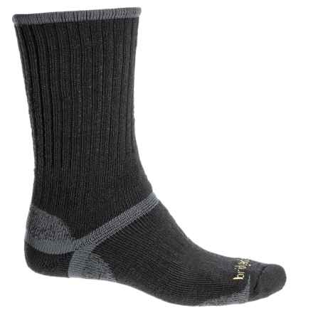 Bridgedale Merino Hiking Socks - Merino Wool Blend, Crew (For Men) in Black - 2nds
