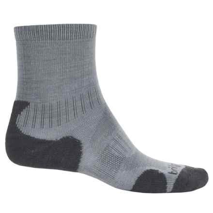 Bridgedale Merino Lite Hiking Socks - Merino Wool, Crew (For Men) in Grey - 2nds