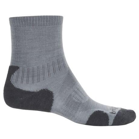 Bridgedale Merino Lite Hiking Socks - Merino Wool, Crew (For Men) in Grey