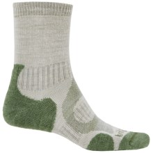 Bridgedale Merino Lite Hiking Socks - Merino Wool, Crew (For Men) in Stone/Green - 2nds