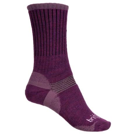 Bridgedale Merino Wool Hiker Socks - Crew (For Women) in Aubergine