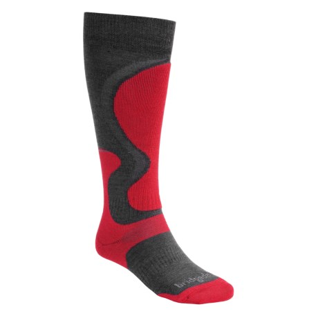 Bridgedale Merino Wool Ski Socks (For Men) in Red/Charcoal