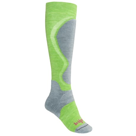 Bridgedale Merino Wool Ski Socks - Lightweight (For Women) in Apple/Dove