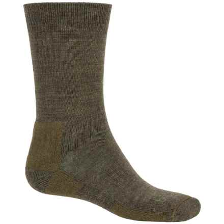 Bridgedale Merino Wool Socks - Crew (For Men) in Olive - Closeouts