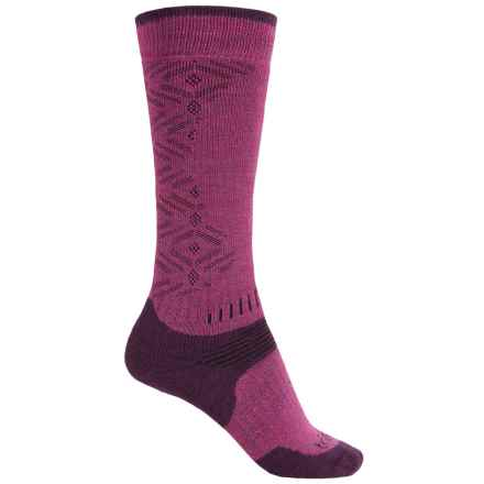 Bridgedale MerinoFusion All-Mountain Socks - Merino Wool, Over the Calf (For Women) in Berry/Plum - Closeouts