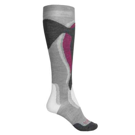 Bridgedale MerinoFusion Control-Fit Ski Socks - Merino Wool, Over the Calf (For Women) in Stone - Closeouts
