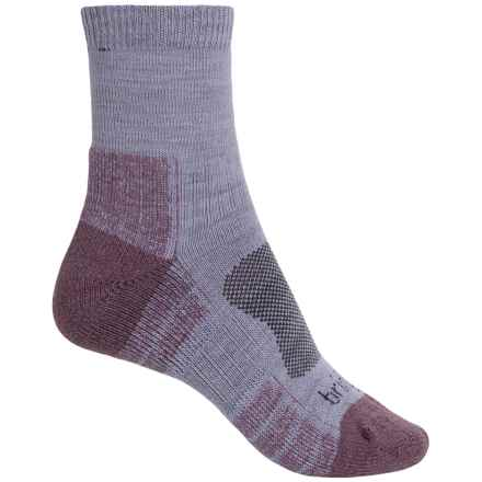 Bridgedale MerinoFusion® Lightweight Trail Socks - Ankle (For Women) in Heather/Damson - 2nds