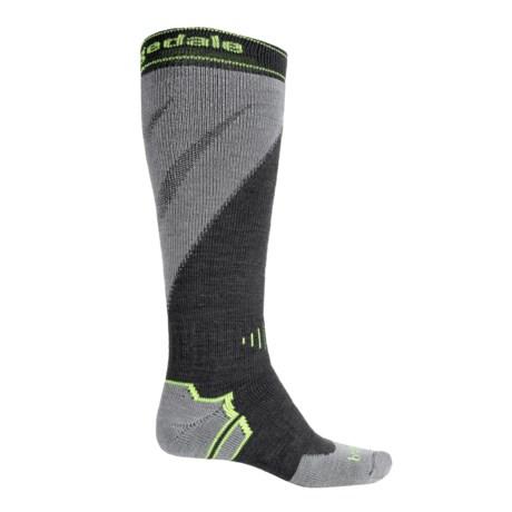 Bridgedale MerinoFusion Mountain Ski Socks - Merino Wool, Over the Calf (For Men) in Gunmetal/Stone
