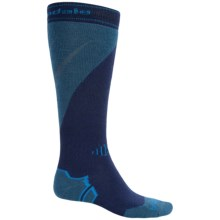 Bridgedale MerinoFusion Mountain Ski Socks - Merino Wool, Over the Calf (For Men) in Navy/Blue Grey - 2nds