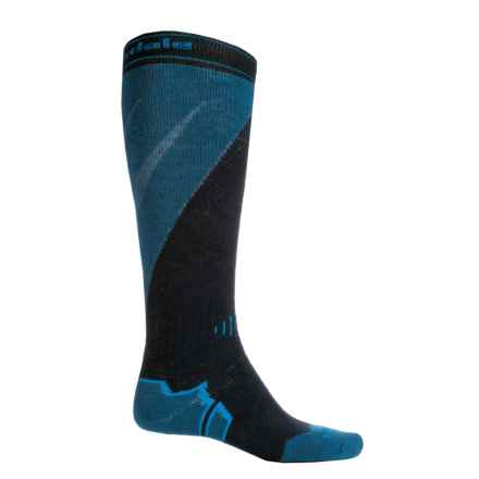 Bridgedale MerinoFusion Mountain Ski Socks - Merino Wool, Over the Calf (For Men) in Navy/Steel - 2nds