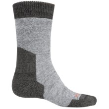 Bridgedale MerinoFusion Summit Boot Socks - Merino Wool, Crew (For Men) in Light Grey Heather/Charcoal Heather - 2nds