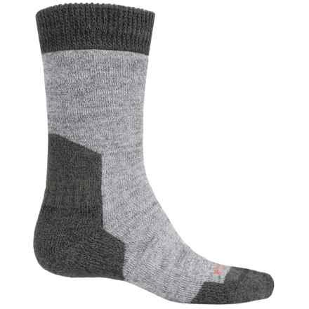 Bridgedale MerinoFusion Summit Boot Socks - Merino Wool, Crew (For Men) in Light Grey Heather/Charcoal Heather - 2nds