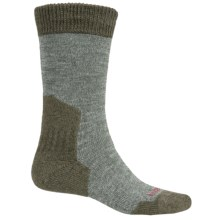 Bridgedale MerinoFusion Summit Boot Socks - Merino Wool, Crew (For Men) in Olive Heather/Forest - 2nds