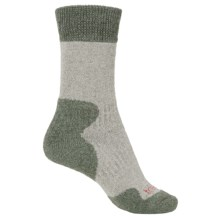Bridgedale MerinoFusion® Summit Socks - Crew (For Women) in Sage/Olive - 2nds